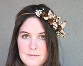 Custom for Heather Rustic Bridal Wreath Crown of Pine Cones and Dried Pods, Woodland Bridal Hair Woman's Wedding Accessory