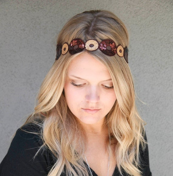 Hippie tie headband for women and teens, women hair accessory