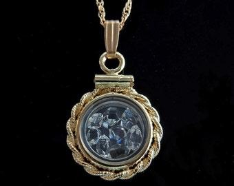 Gold Herkimer Diamond Locket - 14kt Gold Filled