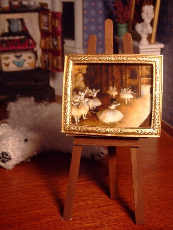 Miniature Painting --- Degas Dancer