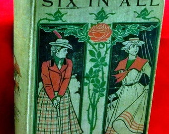 Six In All - Virginia Townsend - 1901 HC/VG - American Girl Series