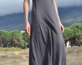 Charcoal jersey maxi dress
