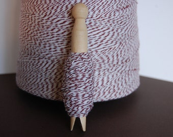 50 Yards Chocolate Brown Bakers Twine on a Clothespin -- Ready to Ship