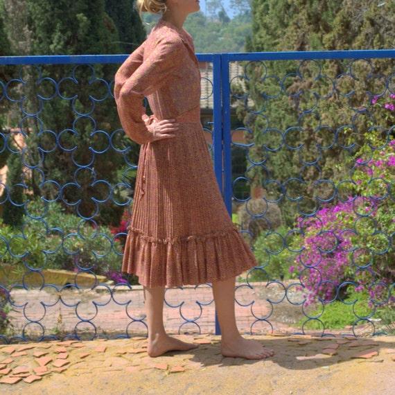 Vintage Little Flower Prairie Dress
