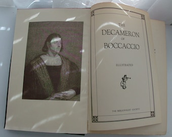 The Decameron of Boccaccio Antique Book