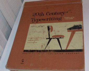 1962 20th Century Typwriting Antique Text Book
