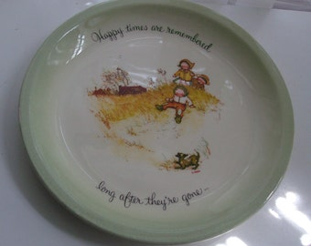 1971 Holly Hobbie Happy Times Plate