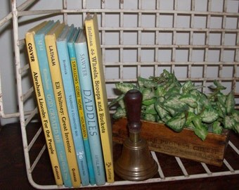 Instant Collection of Blue and Yellow Vintage and Antique Children's Books
