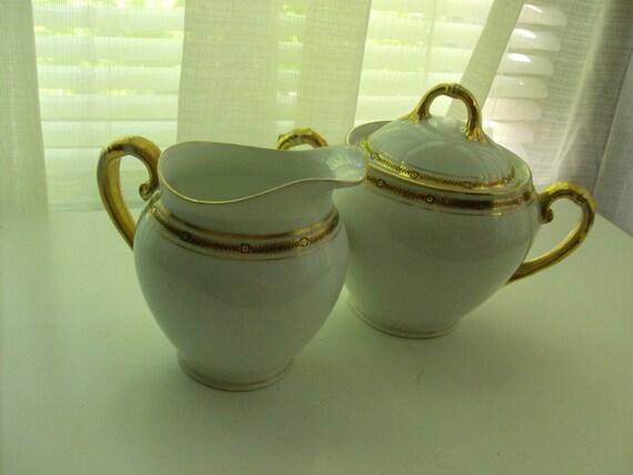 Imperial Crown Austrian Cream and Sugar Set