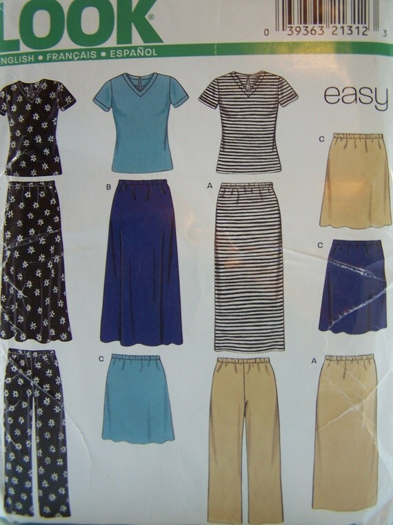 CLEARANCE Misses' Sewing Pattern, New Look 6730, Skirt,  Pants, Top, Easy Sewing Pattern, Plus Size Pattern