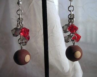 Buckeye Earrings with Swarovski Crystals
