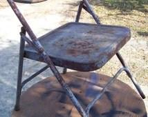 Vintage Childs Metal Folding Chair Mid Century Samsonite