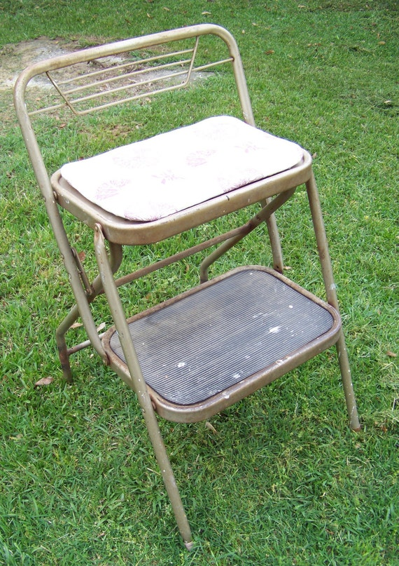 Vintage Metal Step Stool Durham Mfg Mid Century Retro