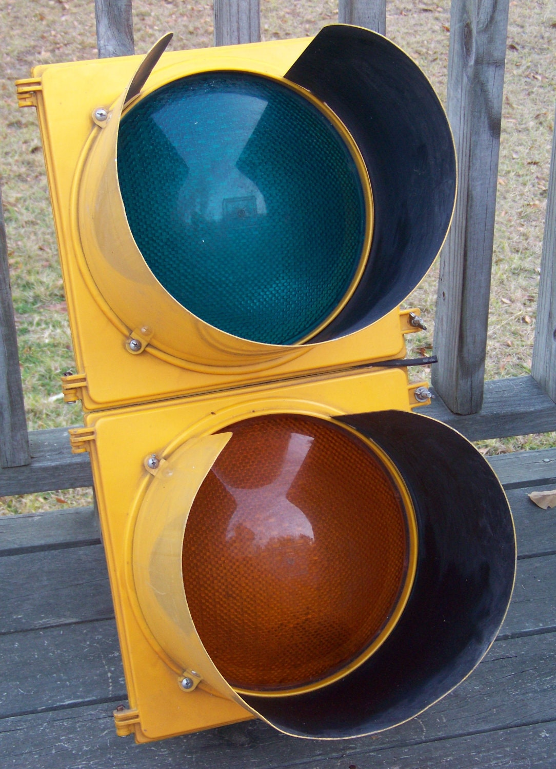 Vintage Hanging Traffic Signal Light Unique Masculine Man Cave
