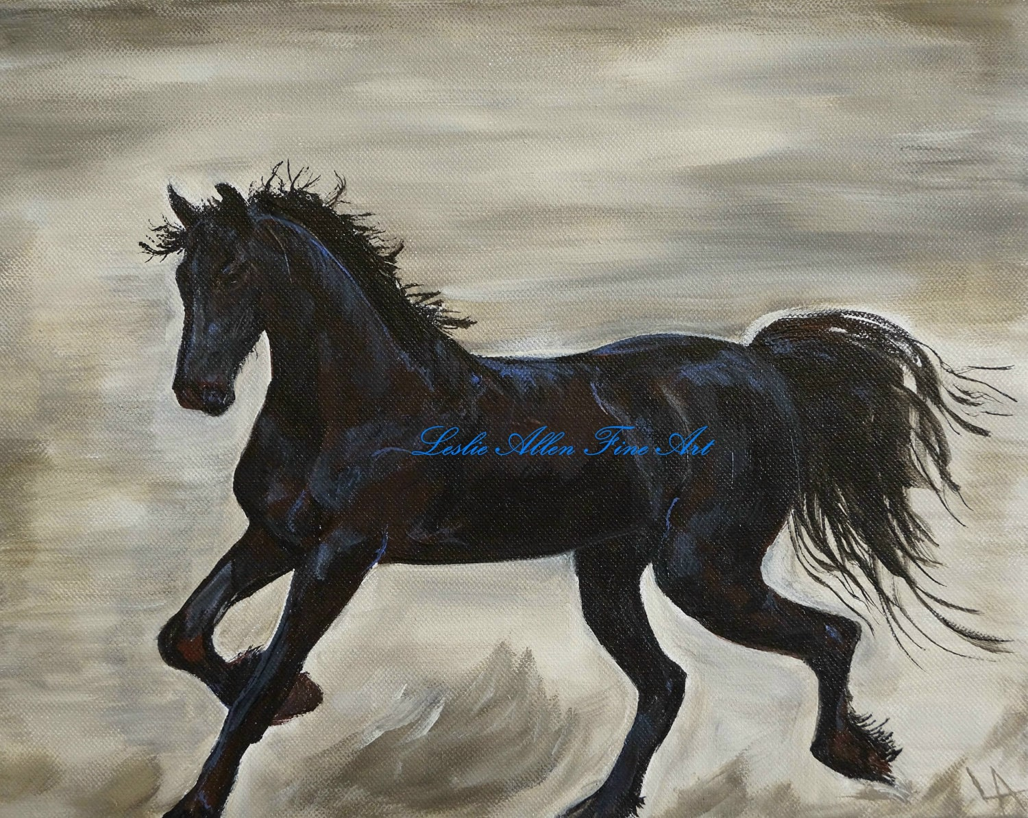 horse painting horse painting of horses friesian stallion
