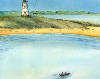 Original 8x10 Painting -- Cape Cod Lighthouse
