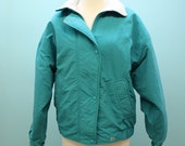SALE - 80's Woolrich Jacket / Womans / Fleece Lining / Teal Blue / Small to Medium