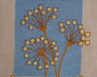 Bubble Flowers  Cross Stitch Pattern