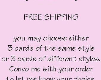 3 Card Special / FREE SHIPPING