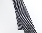 Vintage Eighties Bicolor Black and White Dot Silk Necktie - Retro Mens Fashion Accessory - Made in Italy