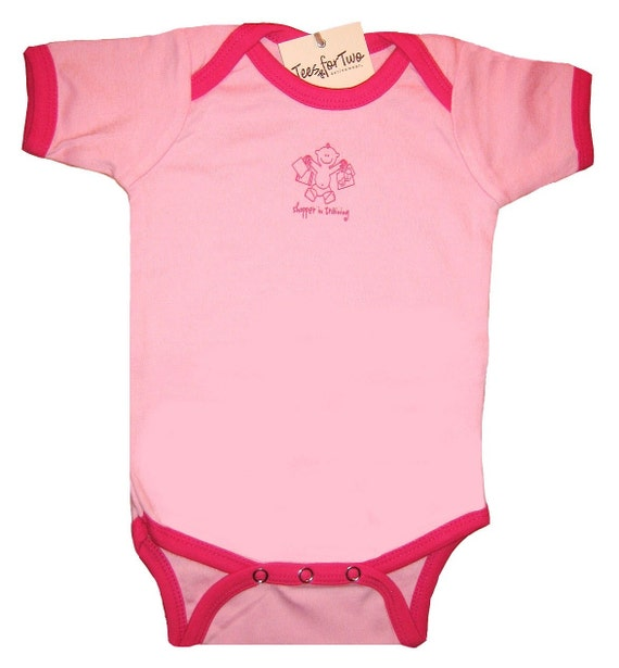 One-Piece Snapsuit - Yoga Baby Pink Ringer (6-12mo)