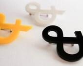 Ampersand Brooch - Futura