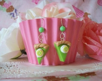 Earrings Key Lime Pie Slices