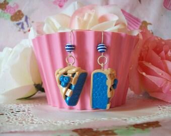 Earrings Blueberry Pie Slices