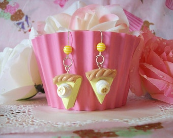 Earrings Banana Cream Pie Slices