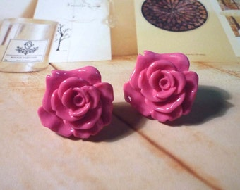 SALE - Pastel Rose Stud Earrings