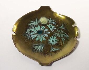 Mid-Century Modern Sascha Brastoff Copper Enamel Ashtray Dish