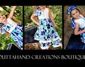 Girls Halter Dress Set /Savanna  Sz 6mo-6yrs