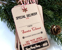 Special Delivery from Santa Claus Christmas Tags or Package Labels (Qty. 10)