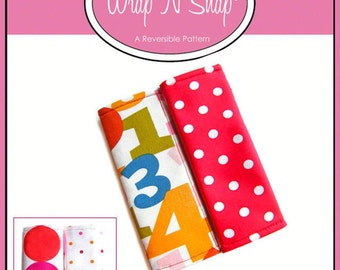 INSTANT Download - Wrap N Snap Car Seat Belt Cover - PDF Sewing Pattern with BONUS Fabric Guide Ruler
