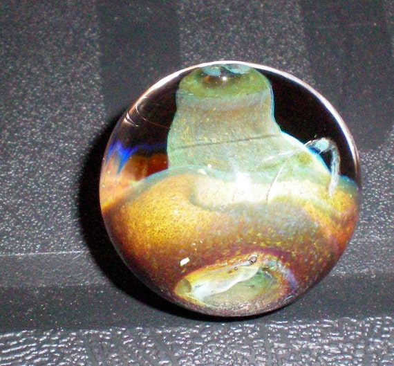 Round Alien Through Round Hole Marble - Handblown Glass