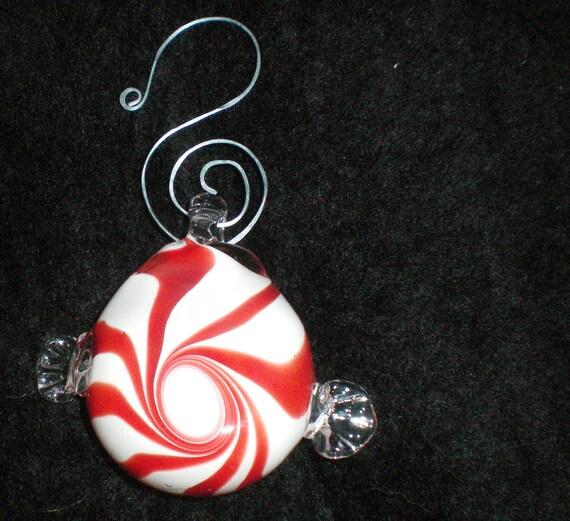 Peppermint Ornament - Handblown Glass