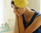Morning Delight - yellow felt hat