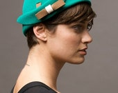 Green 1940's hat- made to order