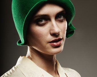Special Green Cloche- made to order