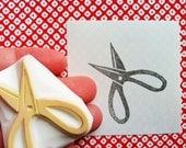 scissors  hand carved rubber stamp. sewing scissors stamp. tool stamp. card making. gift wrapping. craft projects. diy birthday mother's day