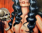 Malicious Day of the dead pin up tattoo print