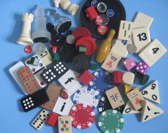 50 plus Assorted Game Pieces