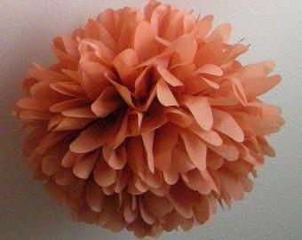 Terra Cotta ... 1 tissue paper pom // aisle marker // wedding ceremony // diy // budget wedding // party decorations