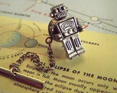 Black Friday Sale Cyber Monday Steampunk Robot Tie Tack Vintage Inspired Men's Gifts & Accessories Men's Tie Tack