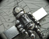 Steampunk Tie Clip Diving Suit Scuba Diver Men's Rustic Finish Antiqued Silver Vintage Inspired Nautical Accessories & Jewelry