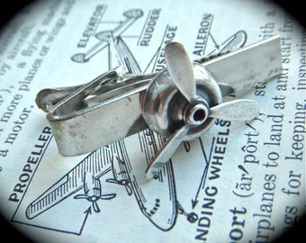 Silver Propeller Tie Clip Men's Steampunk Accessories & Gifts Moving Spinner Really Spins