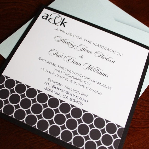 Printable Personalized Invitation- Audrey Design