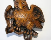 Medieval Reproduction Misericord Carving, Owl - Lincoln Cathedral England