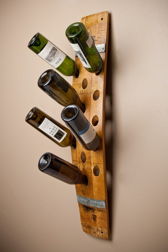 Banded 16 Bottle Wall Wine Rack