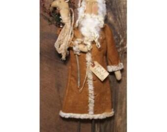 My Primitive KRIS KRINGLE Door Hanger  Christmas Pattern